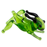 Miniature Lampwork Hand Blown Glass Grasshopper Cricket Figurine 1