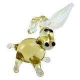 Miniature Lampwork Hand Blown Glass Donkey Figurine 1