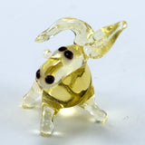 Miniature Lampwork Hand Blown Glass Donkey Figurine 2