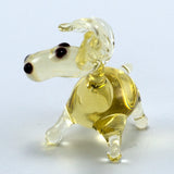 Miniature Lampwork Hand Blown Glass Donkey Figurine 3