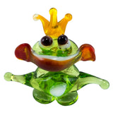 Miniature Lampwork Hand Blown Glass Frog Prince Figurine 1