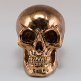 Little Skull Copper Chrome Finish Figurine 2