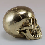 Little Skull Gold Chrome Finish Figurine 3