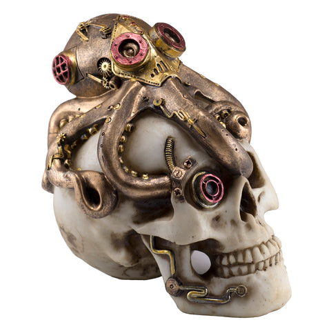 Steampunk Skull With Octopus Figurine 1