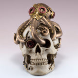 Steampunk Skull With Octopus Figurine 2