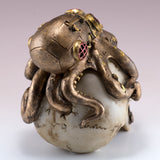 Steampunk Skull With Octopus Figurine 5
