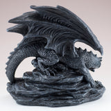 Black Dragon With Opening Treasure Chest Box Figurine 7