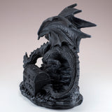 Black Dragon With Opening Treasure Chest Box Figurine 8