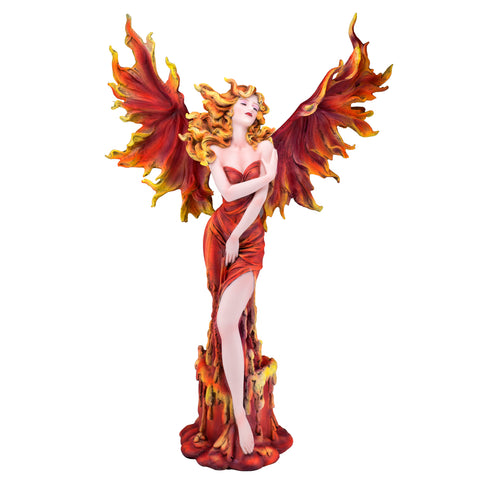 Fire Fairy With Flaming Wings Figurine 1