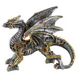 Steampunk Silver/Gold Dragon Figurine Statue 1