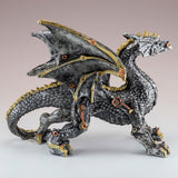 Steampunk Silver/Gold Dragon Figurine Statue 3