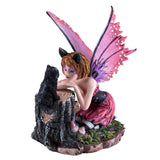 Pink Cat Fairy With Black Cat Figurine 1