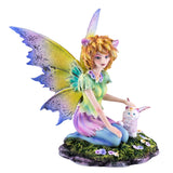Cat Fairy With White Fairy Cat Figurine 1
