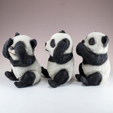See, Hear, Speak No Evil Panda Bear Figurines 2