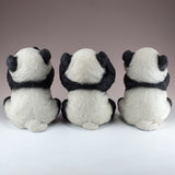 See, Hear, Speak No Evil Panda Bear Figurines 3