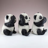 See, Hear, Speak No Evil Panda Bear Figurines 4