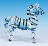 Zebra Miniature Hand Blown Borosilicate Glass Figurine