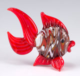 Fish Red Swirled Hand Blown Miniature Glass Figurine 3