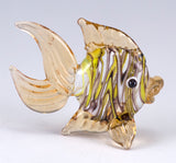 Fish Amber Swirled Hand Blown Miniature Glass Figurine 3
