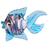 Fish Light Blue Swirled Hand Blown Miniature Glass Figurine