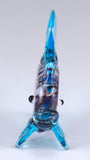 Fish Light Blue Swirled Hand Blown Miniature Glass Figurine 2
