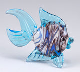 Fish Light Blue Swirled Hand Blown Miniature Glass Figurine 3