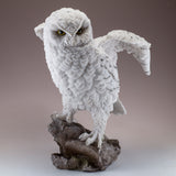 Snowy Owl Standing On Rock Figurine 2