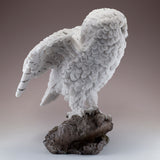 Snowy Owl Standing On Rock Figurine 4