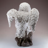 Snowy Owl Standing On Rock Figurine 5