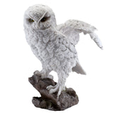 Snowy Owl Standing On Rock Figurine 1