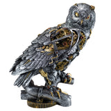 Silver and Gold Steampunk Owl Figurine 1