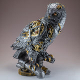 Silver and Gold Steampunk Owl Figurine 2