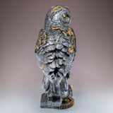 Silver and Gold Steampunk Owl Figurine 5