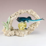 "Stingray Swimming In Coral Figurine Statue 6.5""L"