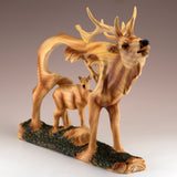 Elk Buck Deer Faux Carved Wood Look Figurine 2