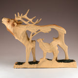 Elk Buck Deer Faux Carved Wood Look Figurine 3