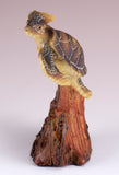 Sea Turtle With Anchor Faux Carved Wood Look Figurine 2