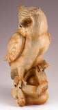 Owl Faux Carved Wood Look Figurine