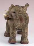 Elephant Mother With Baby Calf On Back Figurine 2