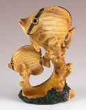 Tropical Fish Faux Carved Wood Look Figurine 2