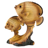 Tropical Fish Faux Carved Wood Look Figurine