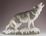 Wolf standing howling figurine 1