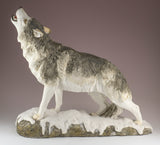 Wolf standing howling figurine 3
