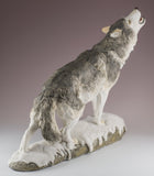 Wolf standing howling figurine 4