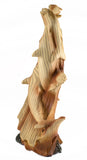 Dolphin Circle Faux Carved Wood Look Figurine 2