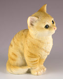 Orange Striped Tabby Kitten Sitting Cat Figurine 3