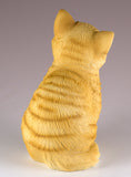 Orange Striped Tabby Kitten Sitting Cat Figurine 4