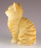 Orange Striped Tabby Kitten Sitting Cat Figurine 5