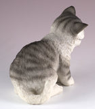 Gray Striped Kitten Cat Figurinev