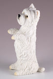 Westie West Highland White Terrier Dog Figurine Begging 2